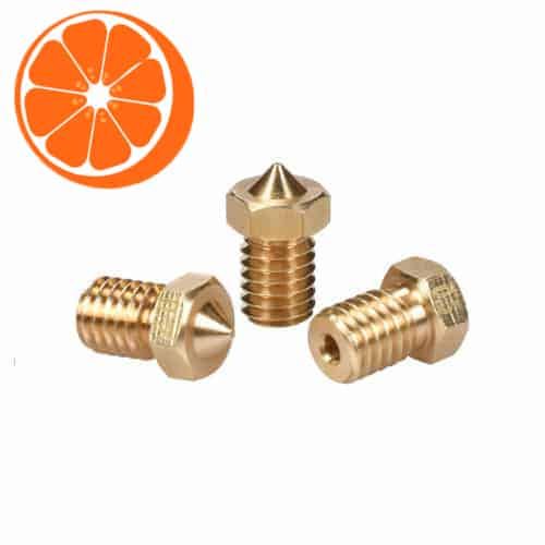 E3D 1.75 Messing Nozzle set Medium HotOrange3D
