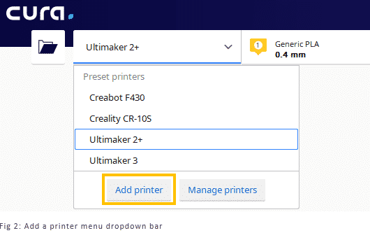 Add A Printer Menu