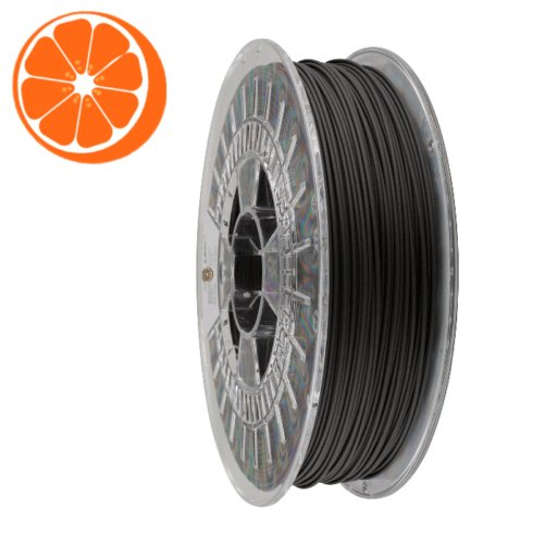 matzwart filament hot orange 3D